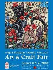 The poster for the 44th annual Art & Craft Fair was created by painter and illustrator Bethanne Hill.