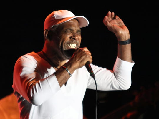 Maze featuring Frankie Beverly perform at the Cincinnati Music Festival.