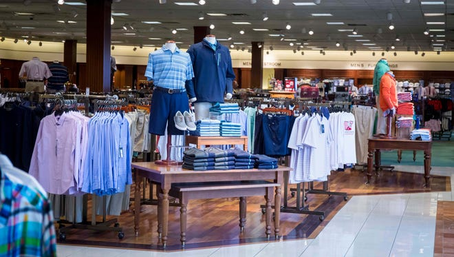 Clothing display at the Valley West Mall Von Maur store .Von Maur President Jim von Maur was in West Des Moines Wednesday, Feb. 7, 2018, to make the announcement that they plan to open a store at the Jordan Creek Town Center mall in West Des Moines in 2022.