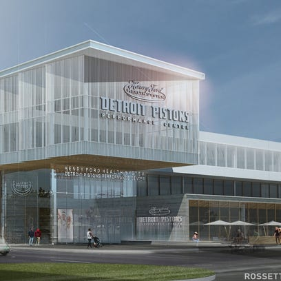 This rendering shows the Detroit Pistons proposed practice