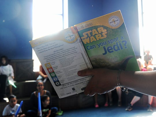 "The Camarillo Library's ""Star Wars"" Reads Day featured themed games, activities, readings, costumed characters and more."