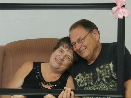 Delbert Blare with his wife, Deb Blare.