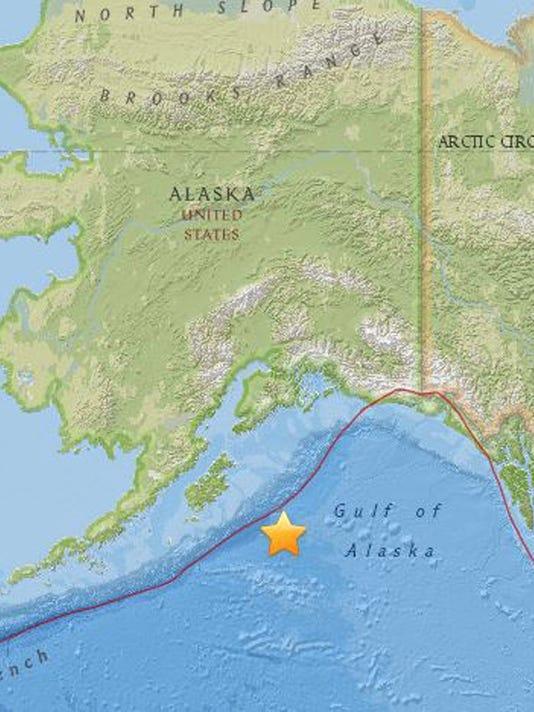 EPA USA EARTHQUAKE ALASKA DIS EARTHQUAKE USA AK