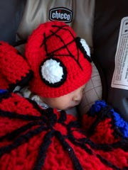 Kristin's son Brandon Parker Coursen. The middle name pays homage to Peter Parker aka Spider-Man.