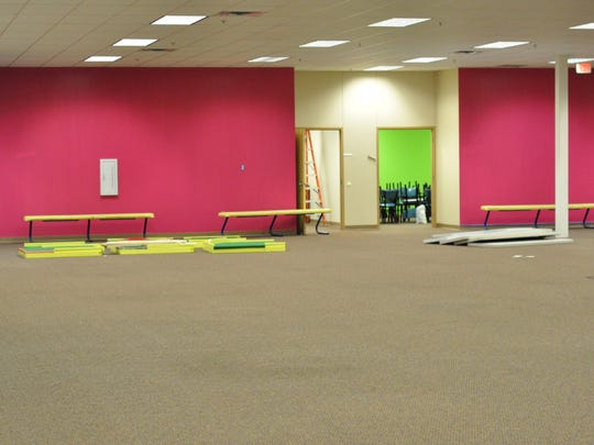 Interior of the new Slinkee's Family Fun Center. So far, the building has only had cosmetic work like painting as Slinkee's still is waiting for its construction permit.