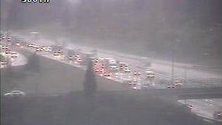 Traffic on Interstate 5 at Kuebler Boulevard.