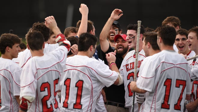 Glen Rock ends the year at its highest position ranked No. 6 after reaching the North Group 1 championship. The Panthers, shown here, celebrate a win over Kinnelon earlier in the tournament.