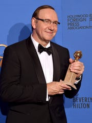 Actor Kevin Spacey, best actor for TV drama 'House