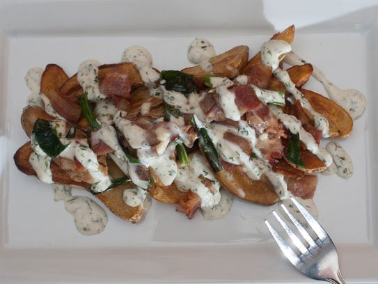 A fingerling potato appetizer is a fresh take on skins at The Local Eatery & Pub in Mount Holly.