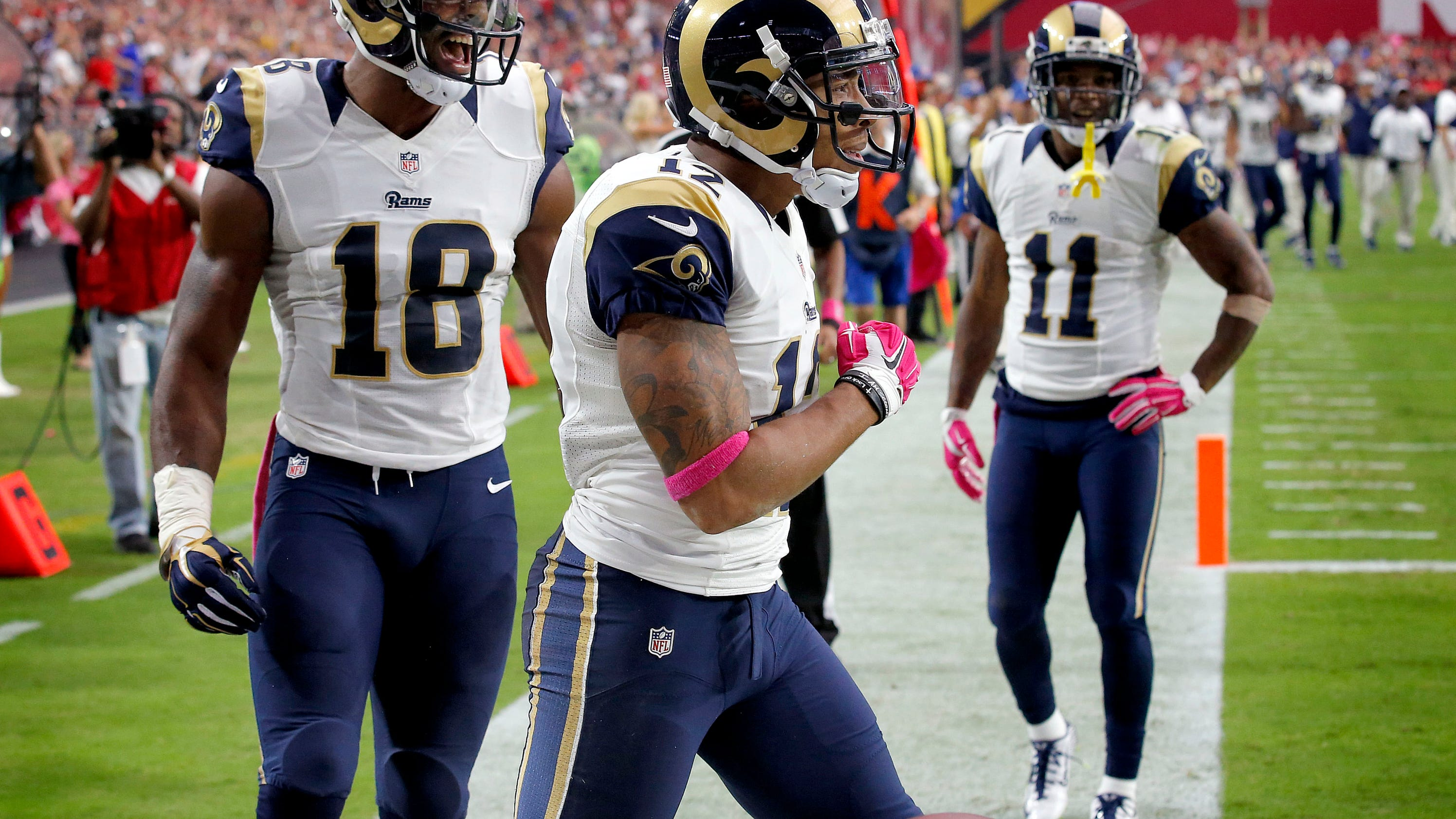 receivers austin and bailey turn up offense for rams