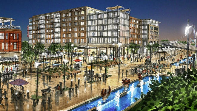 An artist rendering of the convention hotel that has been proposed for downtown Abilene.