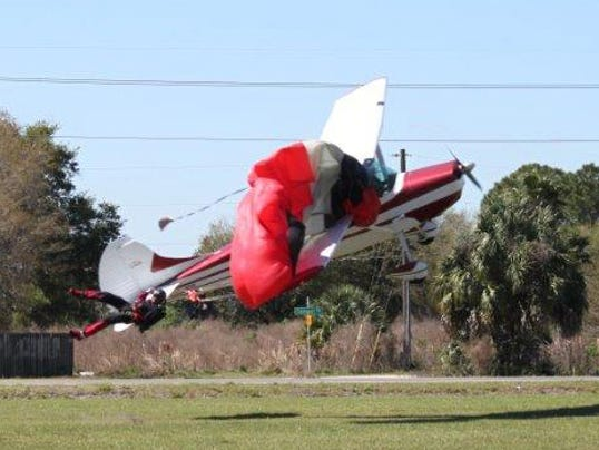 Skydiver plane collide 030914