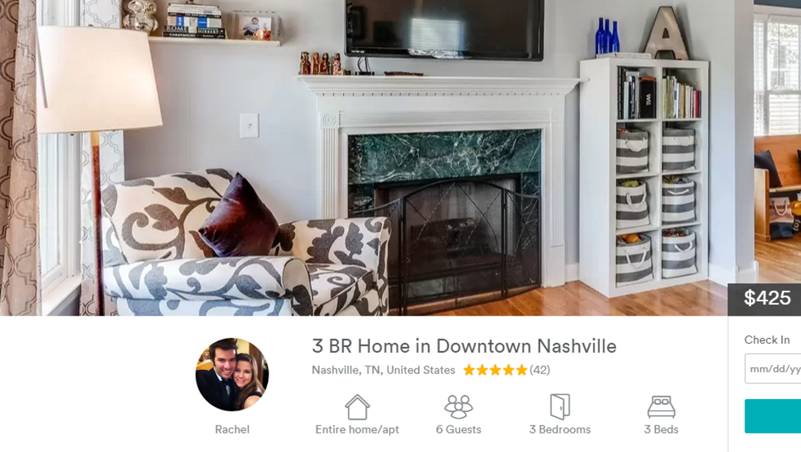 Current nashville airbnb hosts may be exempt from proposed for Airbnb nashville
