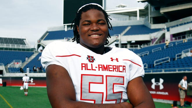 Rashan Gary at the 2016 Under Armour All-American Game.