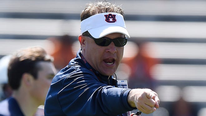 Gus Malzahn and the Tigers are playing their A-Day game this afternoon.