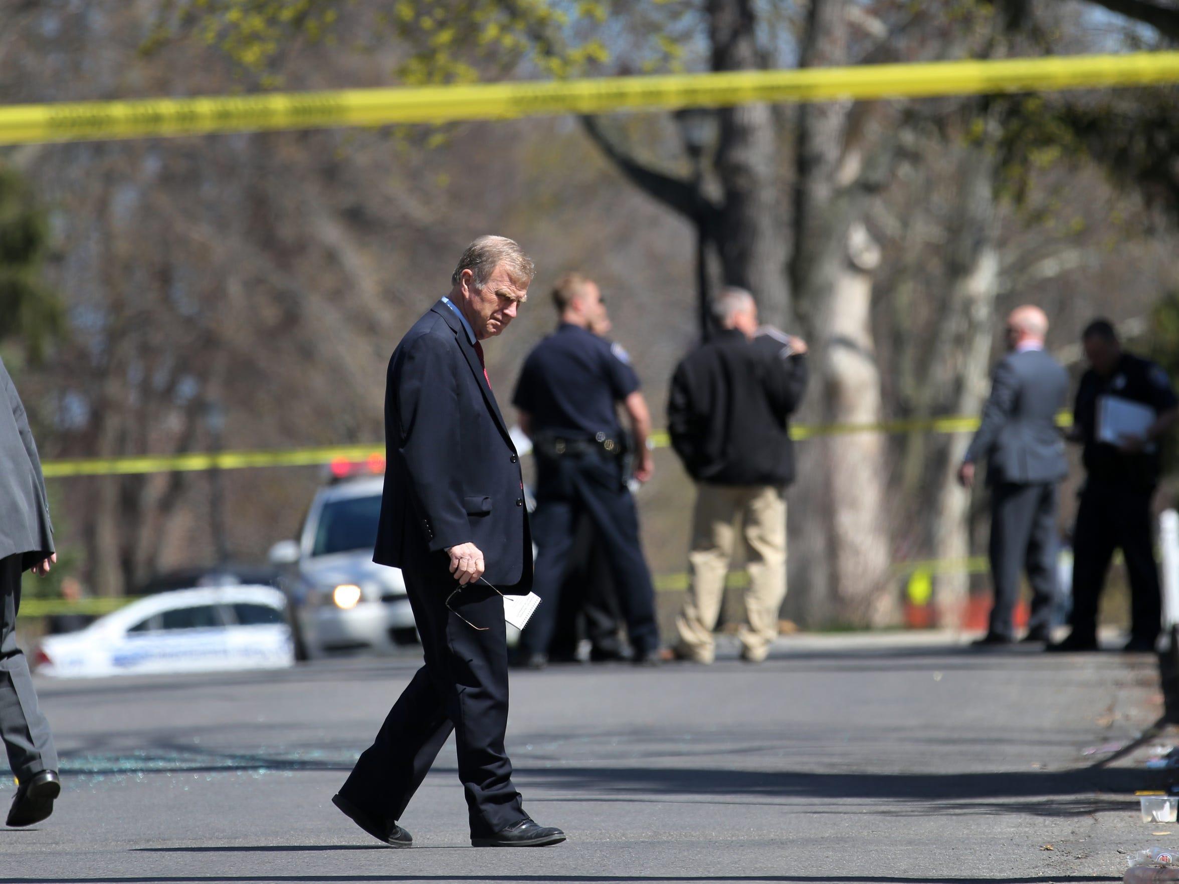 Rochester Police Capt. Lynde Johnston at a homicide scene in 2015.