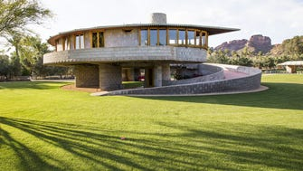 This is the David and Gladys Wright House near 52nd Street and Camelback Road, Thursday, April 16, 2015. It was designed by the famous architect Frank Lloyd Wright.