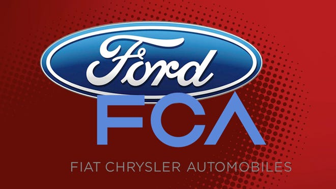 .Ford Motor Co. sold 204,650 vehicles in April, down 4.7 percent from the same month last year, while Fiat Chrysler Automobiles NV increased 5 percent in the same month.
