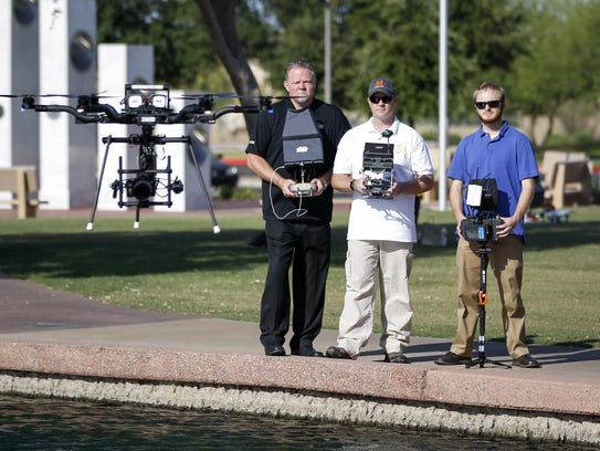 Mark Taylor, owner of Extreme Aerial Productions; chief