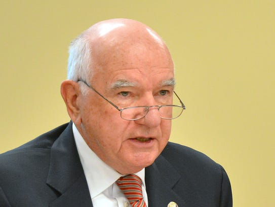 Chairman John Degnan at a Port Authority  board meeting