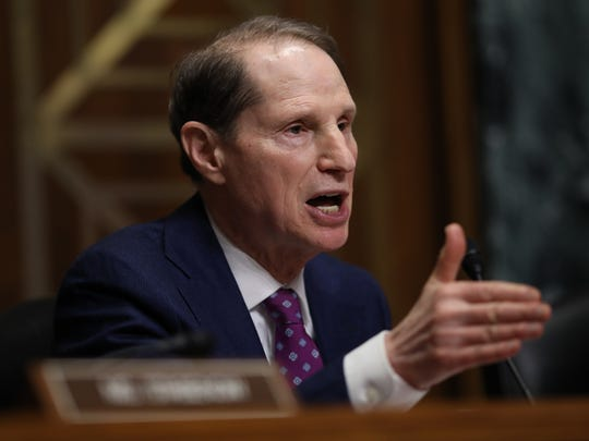 """WASHINGTON, DC - FEBRUARY 26: Sen. Ron Wyden (D-OR) asks questions to a panel of pharmaceutical company CEOs during a hearing held by the Senate Finance Committee on """"Drug Pricing in America: A Prescription for Change, Part II"""" February 26, 2019 in Washington, DC. The committee heard testimony from a panel of pharmaceutical company CEOs on the reasons for rising costs of prescription drugs.  (Photo by Win McNamee/Getty Images) ORG XMIT: 775293815 ORIG FILE ID: 1132313976"""