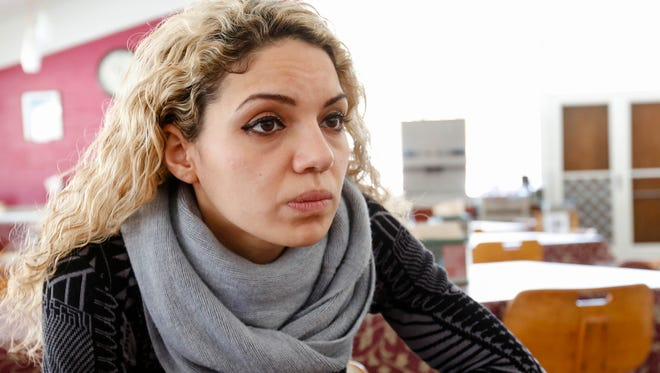 Ahed Festuk, 29, an activist from Aleppo, Syria is seeking political asylum in the U. S.  Photographed at the Stony Point Center in Stony Point on Thursday, February 16, 2017.