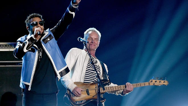 Shaggy and Sting at the 2018 Grammys.