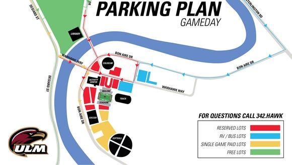 Revised ULM parking map.