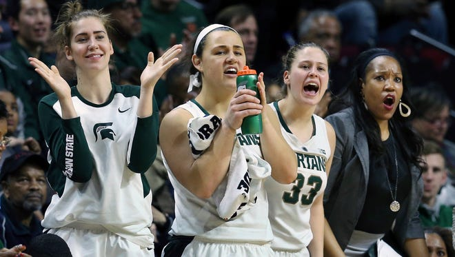 The Michigan State women's basketball team moved up five spots to No. 20 in the latest Associated Press Top 25 Poll.
