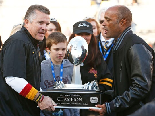 ASU coach Todd Graham and athletic director Ray Anderson