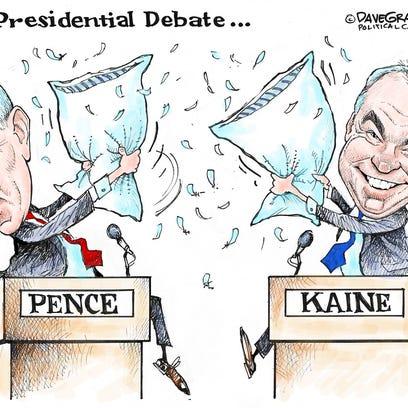 Today's cartoon: Vice Presidential debate