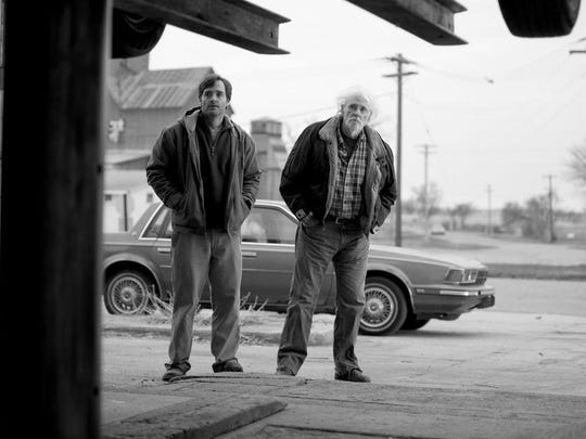 "Will Forte is David Grant and Bruce Dern is Woody Grant in ""Nebraska."""