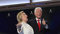 Hillary and Bill Clinton at the Democratic convention