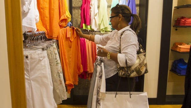 Madge Ali shops at Chico's at Bell Tower Shops in south Fort Myers.