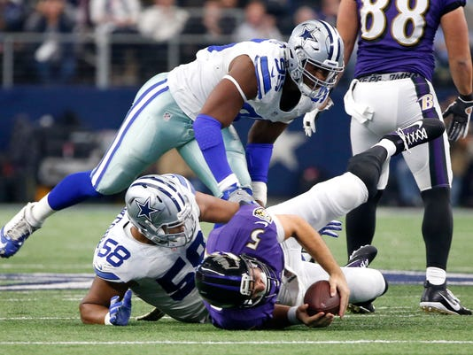 Joe Flacco, Jack Crawford, David Irving