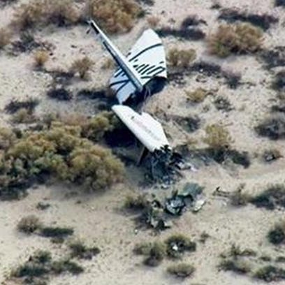 This is the wreckage Friday of the Virgin Galactic
