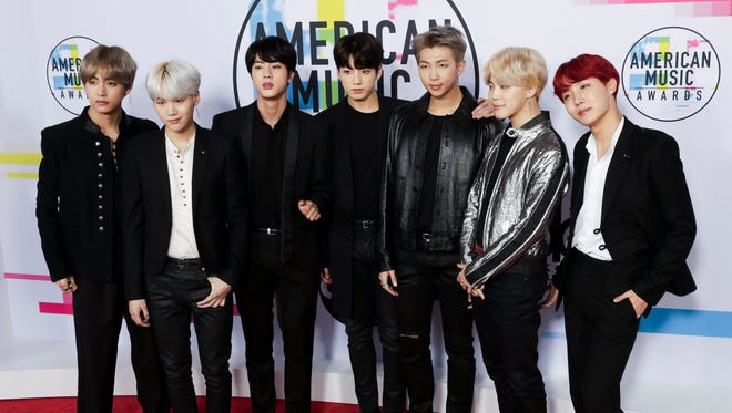 Members of the South Korean boy band BTS, who have enjoyed breakthrough success in the United States this fall.