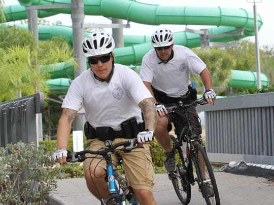 Chad Hartzell, left, and Patrick Taylor navigate an