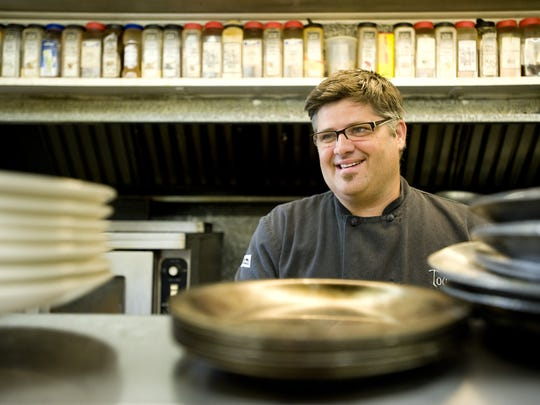 Chef Bill Snell owns Tourterelle Restaurant in New Haven with his wife, Christine. Seen here in 2011.