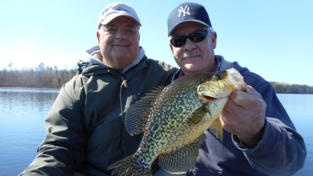 Jeff Evans and his friend Terry went fishing in Hayward County and caught this nice crappie.