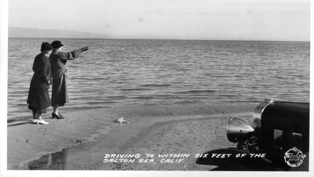 The Salton Sea was created in 1905 - 1907 when a breach in a canal allowed Colorado River waters to flood into the Salton Sink.