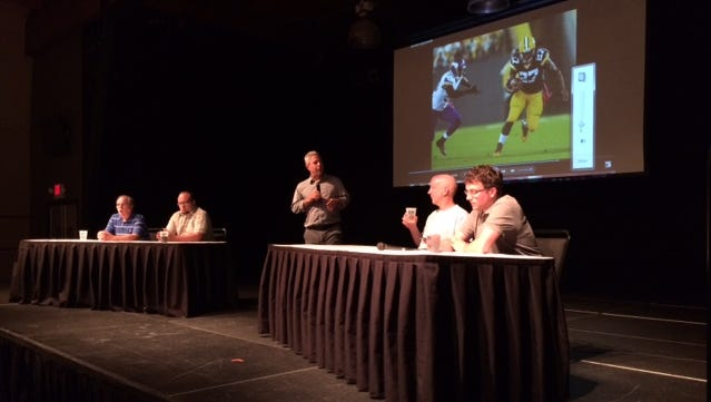 PackersNews team on July 29 at training camp preview party at Green Bay Distillery in Ashwaubenon.