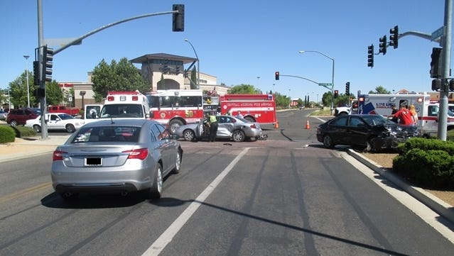 An 86-year-old Prescott Valley woman dies in a three-vehicle collision on Tuesday, June 14, 2016.