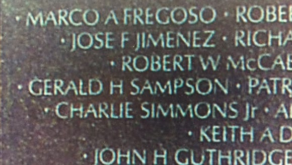 Jose F Jimenez on the Vietnam Memorial Wall