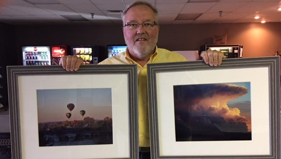 City of Sioux Falls employee Galynn Huber is exhibiting