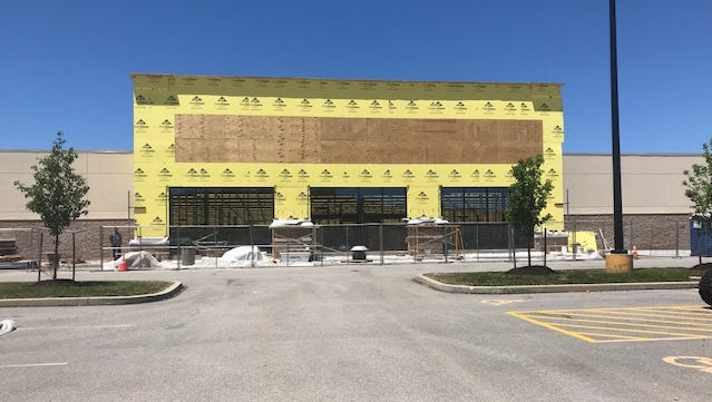 Construction is underway at Hobby Lobby in West Manchester Town Center on July 7, 2018.