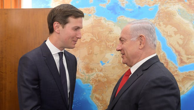 Jared Kushner and Israeli Prime Minister Benjamin Netanyahu in Jerusalem in June 2017.