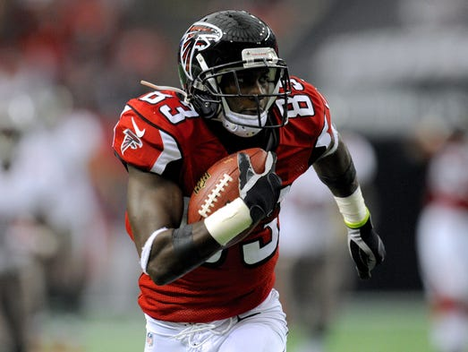 Falcons wide receiver Harry Douglas caught six passes for 134 yards and a touchdown last week. He's pulled in 35 receptions for 535 yards over his past five games.