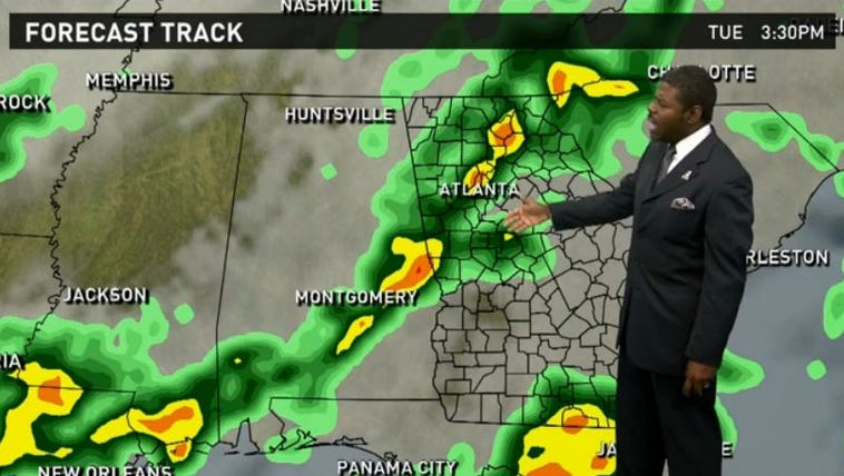 11Alive meteorologist Chesley McNeil  tracks the severe