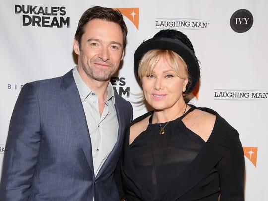 Hugh Jackman and wife Deborra-Lee Furness in 2015.